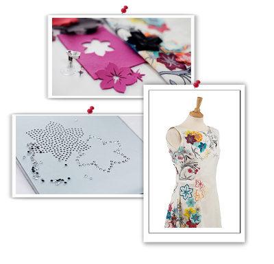 Paintwork, crystalwork, cutwork, haft komputerowy, system BERNINA