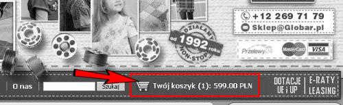 Podgląd koszyka zakupów - GLOBAR.pl