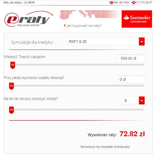 eRaty SANTANDER w Sklepie Internetowym GLOBAR.pl