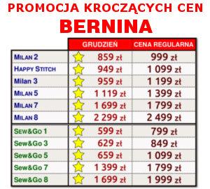 BERNINA - Promocja Kroczących Cen