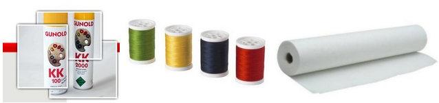 Flizeliny, termofolie, nici, kleje do tkanin