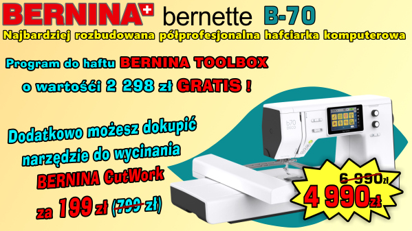 BERNINA B70 - 2000 zl RABATU + TOOLBOX GRATIS !