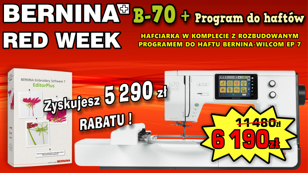 PROMOCJA BERNINA RED WEEK