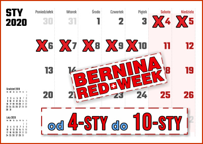 BERNINA RED WEEK