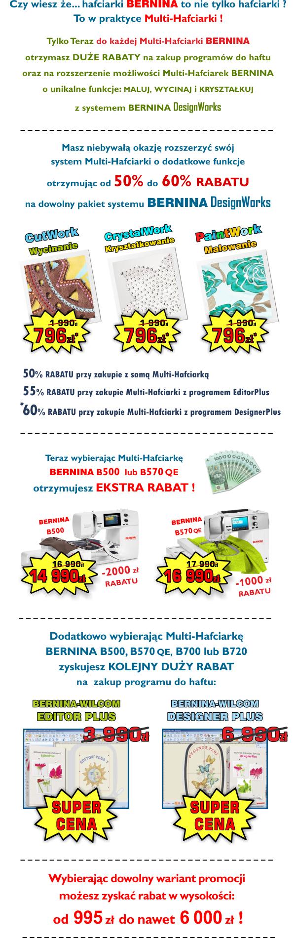 Promocje Multi-Hafciarek BERNINA Dedykowanych do działalności gospodarczej
