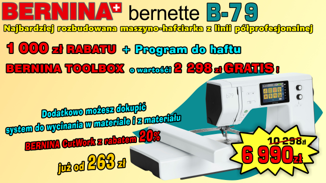 BERNINA B79 - Maszyno-Hafciarka