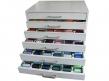 Pełna paleta 402 kolorów nici do haftu ISACORD 40 w solidnej szafce z szufladami