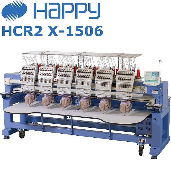 HAPPY HCR2 X1506 Japoński, przemysłowy autmat hafciarski wyposażony w 6-głowic