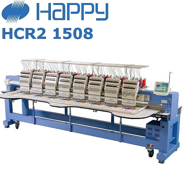 HAPPY HCR2 1508 Przemysłowa Japońska 8-głowicowa maszyna haftująca