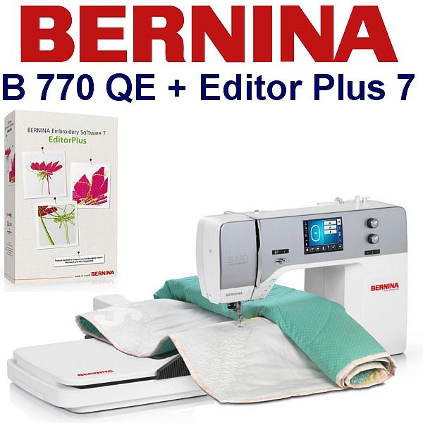 BERNINA B770 QE Embroidery Studio Editor - Maszyna hafciarska dla firm