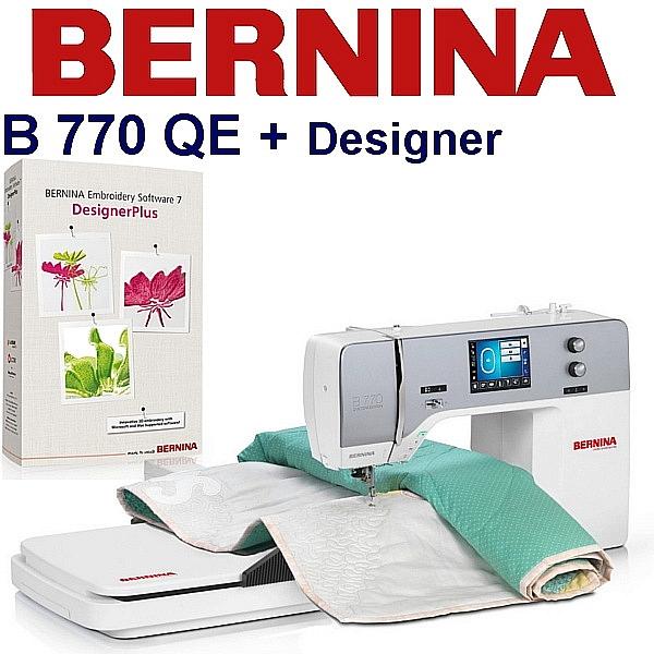 BERNINA B770 QE Emboridery Studio Designer - Maszyna do haftu logotypów