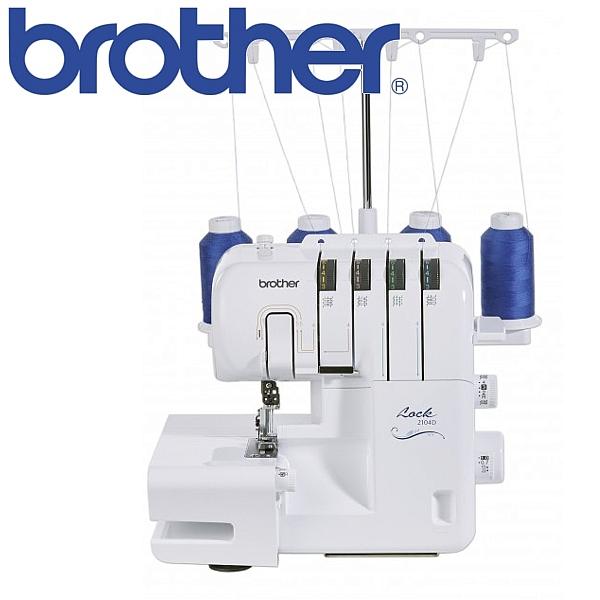 BROTHER 2104D Prosty w obsłudze owerlok 3-4 nitkowy