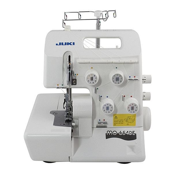 Owerlok 4-nitkowy JUKI MO-654DE z funkcją szycia mereżką