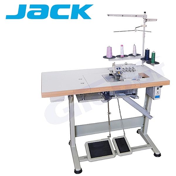 JACK 903E-M02  Overlock 3-nitkowy, funkcje automatyczne + Silnik Direct Drive