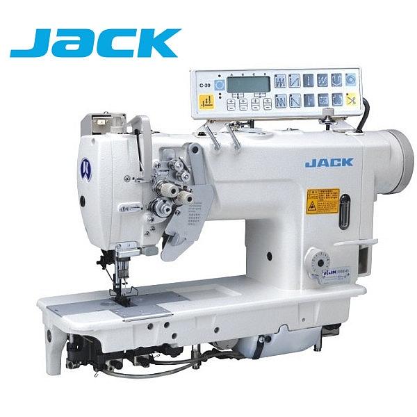 JACK JK-58450D-403 Stębnówka 2-igłowa z podwójnym transportem, wyłączane igły i silnik Direct Drive !