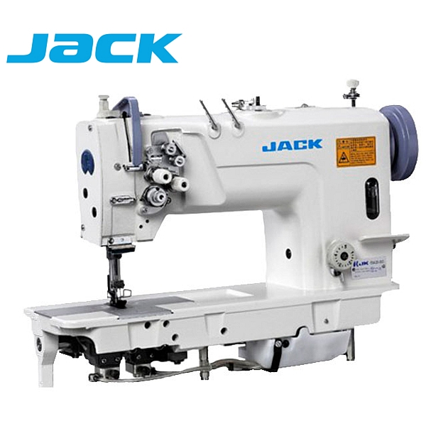 JACK JK-58720-005 Stębnówka 2-igłowa z podwójnym transportem, chwytacz XXL + silnik energooszczędny !