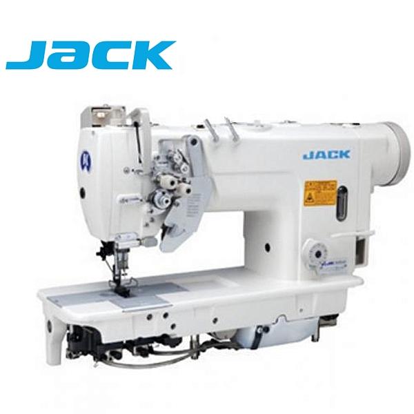 JACK JK-58750-003 Stębnówka 2-igłowa z podwójnym transportem, chwytacz XXL, wyłączane igły + silnik energooszczędny !