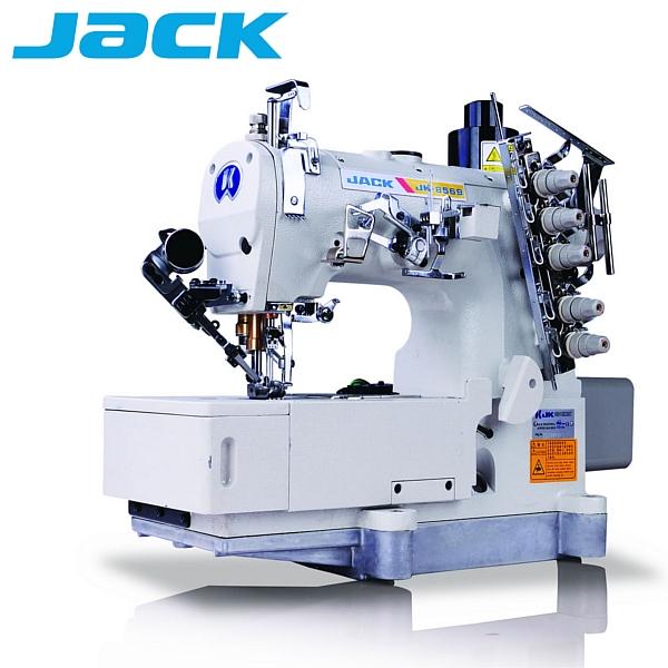 JACK JK-8569 DII-01GBX-UT  Renderka, 3-igłowa maszyna drabinkowa, silnik Direct Drive + funkcje automatyczne