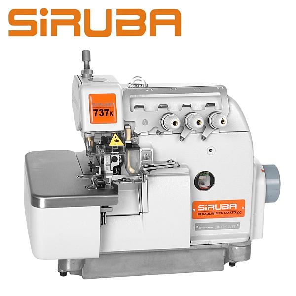 SIRUBA 737Qe-504M1-15 Overlock 3 nitkowy do szycia mereżką + silnik Direct Drive