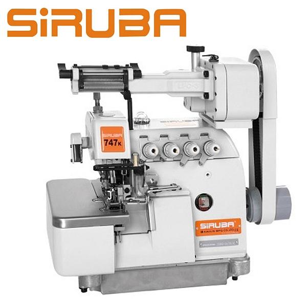 SIRUBA 747L-514M3-24 /LFC-3  Overlock 4 nitkowy z podajnikiem gumy + silnik energooszczędny - do wszywania gumy do prześcieradeł
