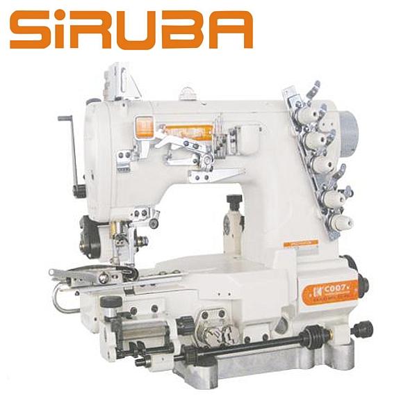 Siruba C007K-W542-356/CFC/CL/FH Renderka z łożem cylindryczny do wszywania gumy z pullerem, silnik energooszczędny