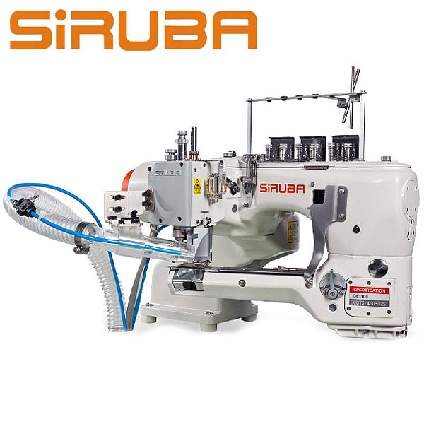 Siruba D007S-460-02-ET/AK/AW7 Autolap, maszyna ramieniowa 4 igłowa - 6 nitkowa z odsysaniem + automatyczne obcinanie nici