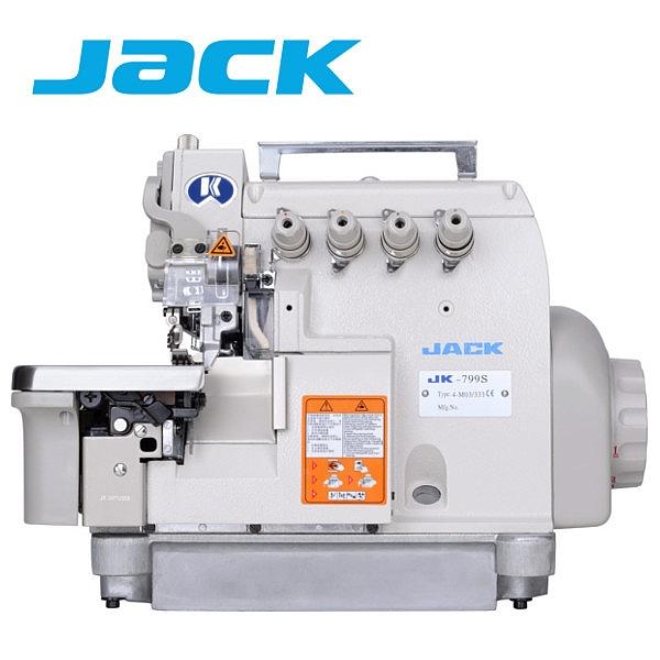 JACK JK-799S-4 Owerlok 4-nitkowy z obcinaniem nici, silnik Direct Drive