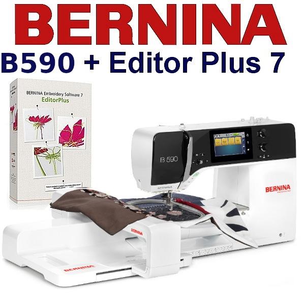 BERNINA B590 Embroidery Studio Editor - Maszyna do haftu z oprogramowaniem hafciarskim