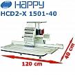 HAPPY HCD2-X 1501-40 15-igłowa przemysłowa hafciarka o polu haftu 120x40cm