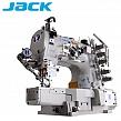 JACK JK-8669DII-01GBX-UT  Renderka, 3-igłowa maszyna drabinkowa, łoże cylindryczne, silnik Direct Drive + funkcje automatyczne